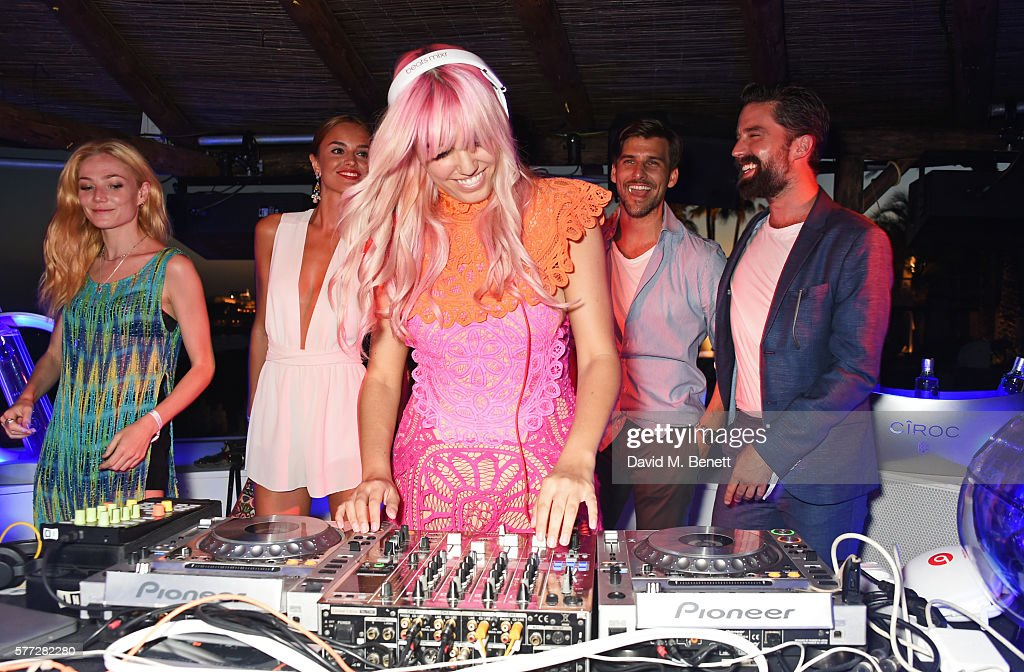 Clara Paget Belen Sanchez Amber Le Bon Johannes Huebl and Jack Guinness attend the CIROC On Arrival party in Ibiza hotspot Destino as model and DJ...