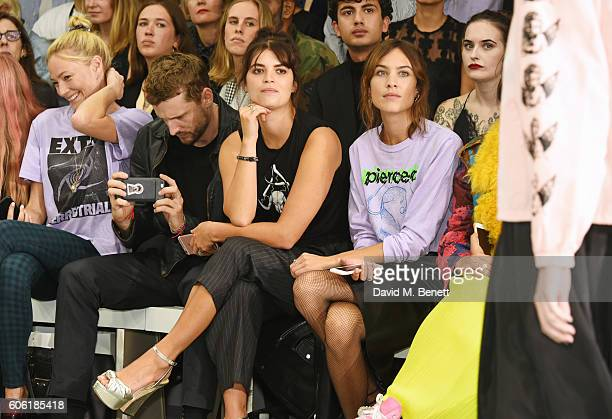 Clara Paget George Barnett Pixie Geldof and Alexa Chung attend the Ashley Williams runway show during London Fashion Week Spring/Summer collections...