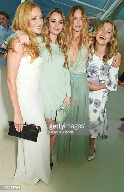 Clara Paget Immy Waterhouse Suki Waterhouse and Poppy Jamie attend The Serpentine Gallery summer party at The Serpentine Gallery on July 2 2015 in...