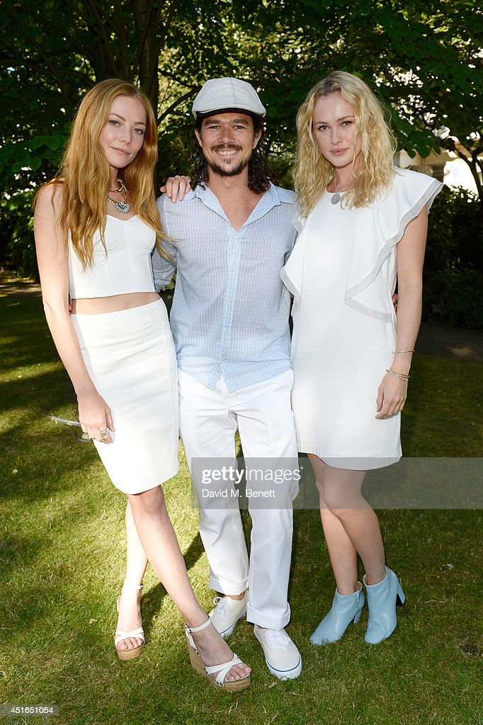 <a gi-track='captionPersonalityLinkClicked' href=/galleries/search?phrase=Clara+Paget&family=editorial&specificpeople=5939171 ng-click='$event.stopPropagation()'>Clara Paget</a>, <a gi-track='captionPersonalityLinkClicked' href=/galleries/search?phrase=Luke+Arnold&family=editorial&specificpeople=5991385 ng-click='$event.stopPropagation()'>Luke Arnold</a> and <a gi-track='captionPersonalityLinkClicked' href=/galleries/search?phrase=Hannah+New&family=editorial&specificpeople=8671957 ng-click='$event.stopPropagation()'>Hannah New</a> attend the Club Monaco Garden Party hosted by Quentin Jones, <a gi-track='captionPersonalityLinkClicked' href=/galleries/search?phrase=Clara+Paget&family=editorial&specificpeople=5939171 ng-click='$event.stopPropagation()'>Clara Paget</a> and Annie Morris in Eaton Square on July 3, 2014 in London, England.
