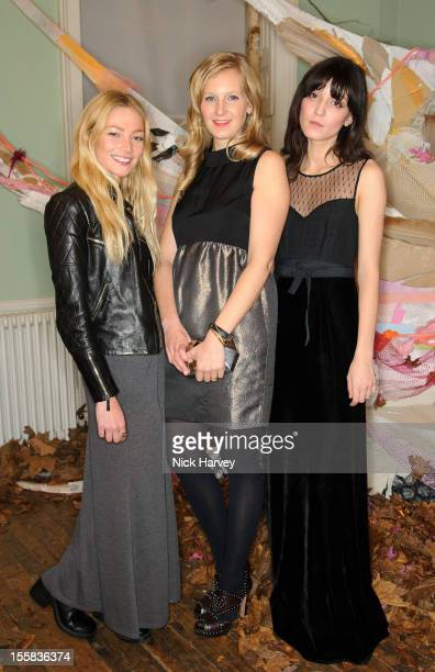 Clara Paget Savannah Miller and Irina Lazareanu attend the launch of Savannah Miller's new solo collection 'Savannah' on November 8 2012 in London...