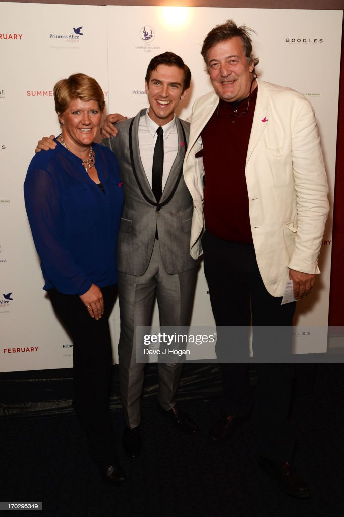 <a gi-track='captionPersonalityLinkClicked' href=/galleries/search?phrase=Clare+Balding&family=editorial&specificpeople=2055901 ng-click='$event.stopPropagation()'>Clare Balding</a>, <a gi-track='captionPersonalityLinkClicked' href=/galleries/search?phrase=Dan+Stevens&family=editorial&specificpeople=678756 ng-click='$event.stopPropagation()'>Dan Stevens</a> and <a gi-track='captionPersonalityLinkClicked' href=/galleries/search?phrase=Stephen+Fry&family=editorial&specificpeople=210809 ng-click='$event.stopPropagation()'>Stephen Fry</a> attend a gala screening of 'Summer In February' at The Curzon Mayfair on June 10, 2013 in London, England.