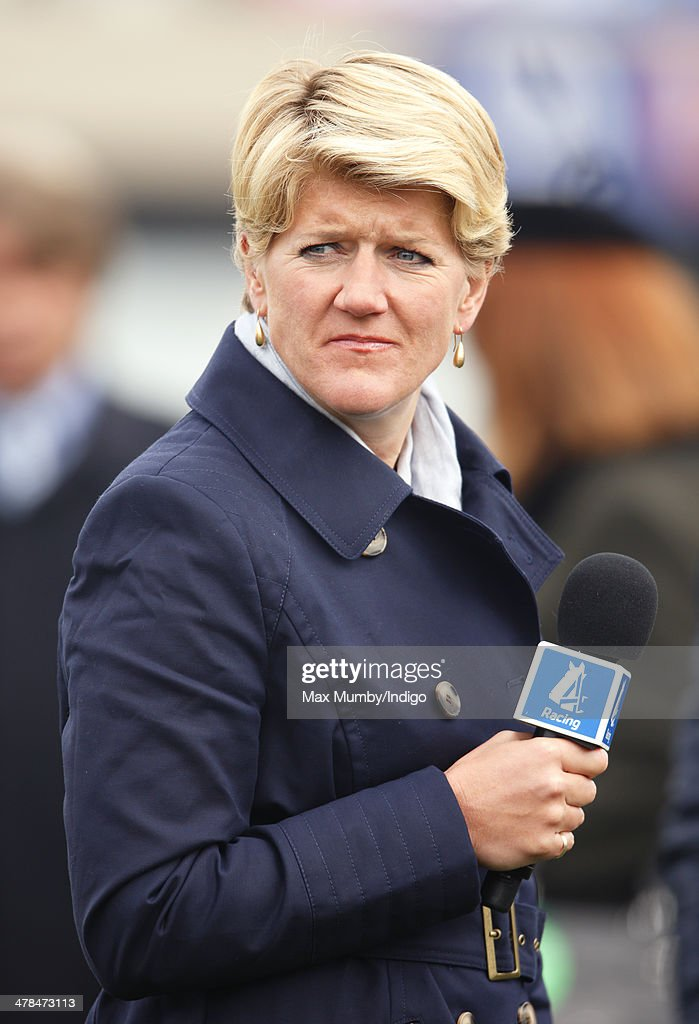 <a gi-track='captionPersonalityLinkClicked' href=/galleries/search?phrase=Clare+Balding&family=editorial&specificpeople=2055901 ng-click='$event.stopPropagation()'>Clare Balding</a> seen presenting for Channel 4 Racing on Day 3 of the Cheltenham Festival at Cheltenham Racecourse on March 13, 2014 in Cheltenham, England.