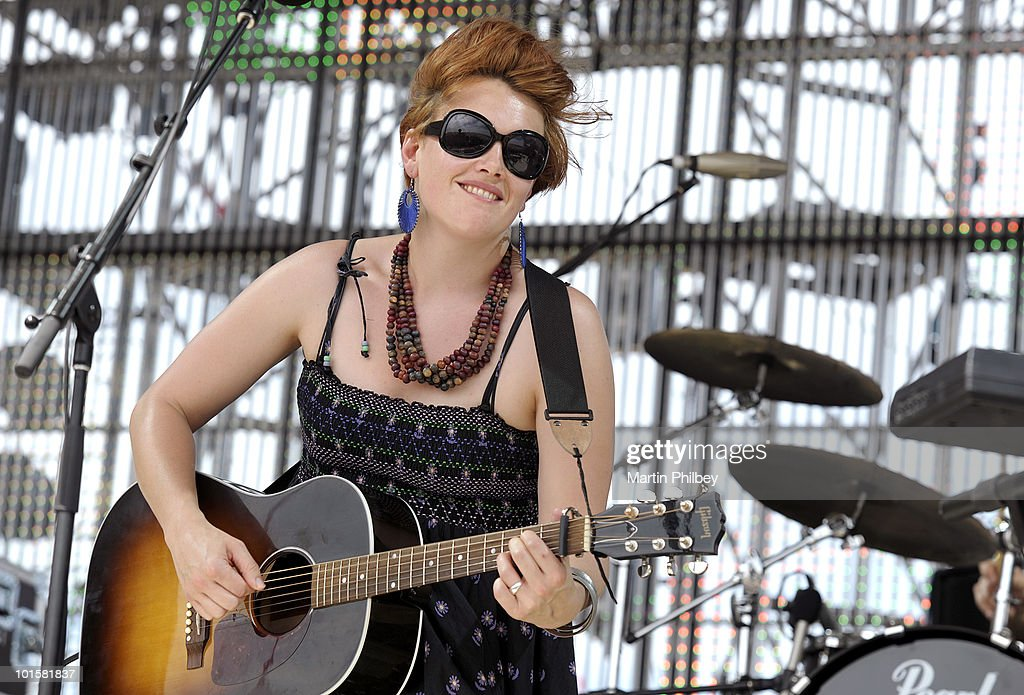 Clare Bowditch performs on stage at the Pyramid Rock Festival on 31st December 2009 in Phillip Island, Australia.