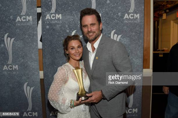 Clare Bowen and Charles Esten attend the 11th Annual ACM Honors at the Ryman Auditorium on August 23 2017 in Nashville Tennessee
