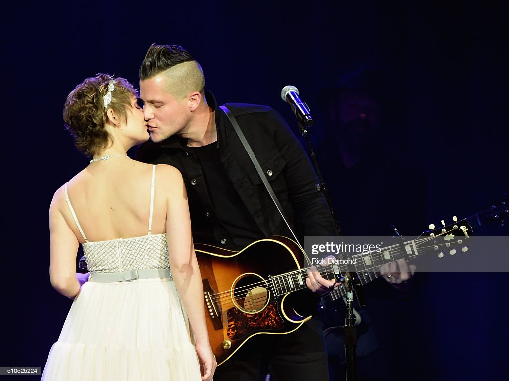 Clare Bowen and Singer/Songwriter Brandon Young perform during 'Nashville for Africa' a benefit for the African Children's Choir at the Ryman...
