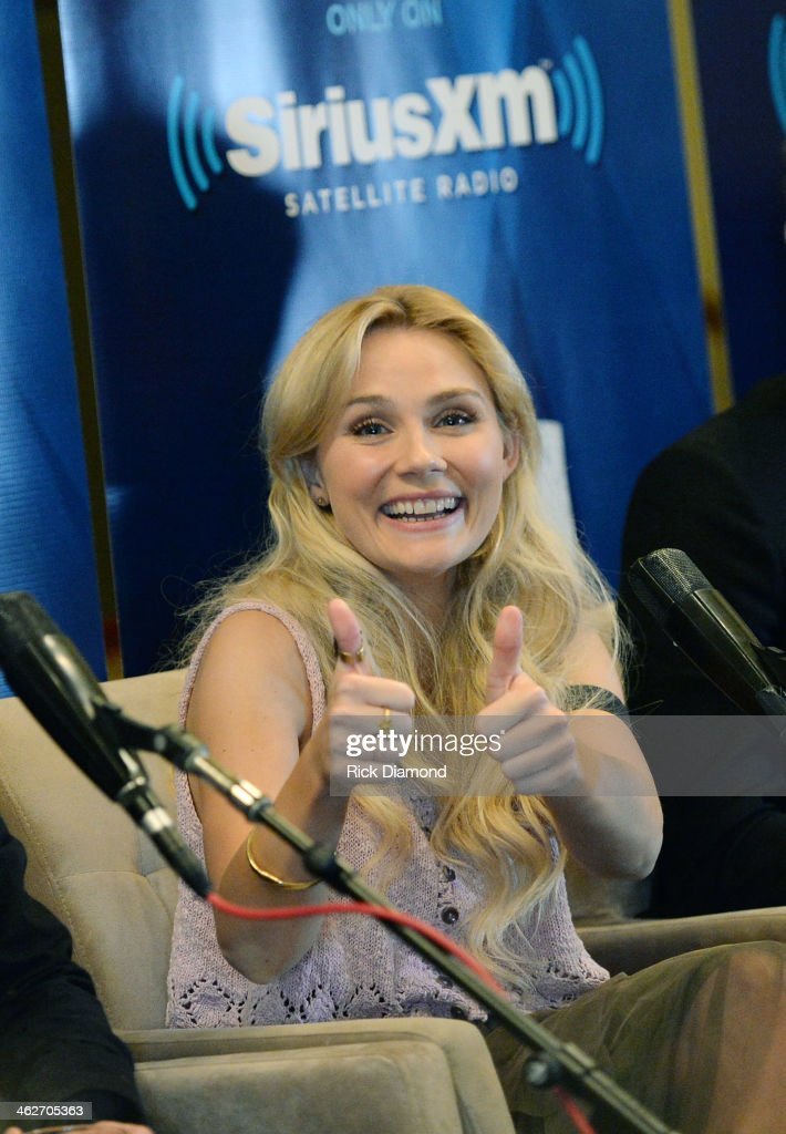Clare Bowen attend Cast Of ABC's 'Nashville' Answer Questions From Fans During A SiriusXM 'Town Hall' Special at Oceanways Studio on January 14 2014...