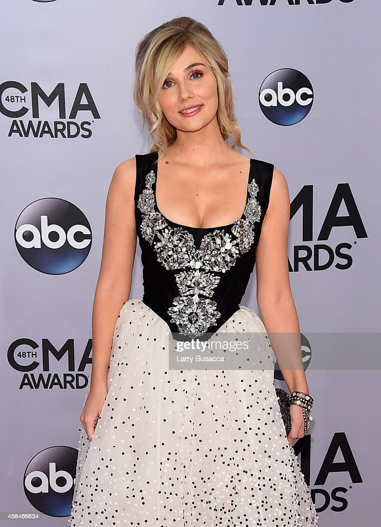 Clare Bowen attends the 48th annual CMA Awards at the Bridgestone Arena on November 5 2014 in Nashville Tennessee
