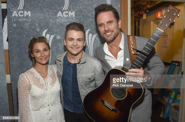 Clare Bowen Hunter Hayes and Charles Esten attend the 11th Annual ACM Honors at the Ryman Auditorium on August 23 2017 in Nashville Tennessee