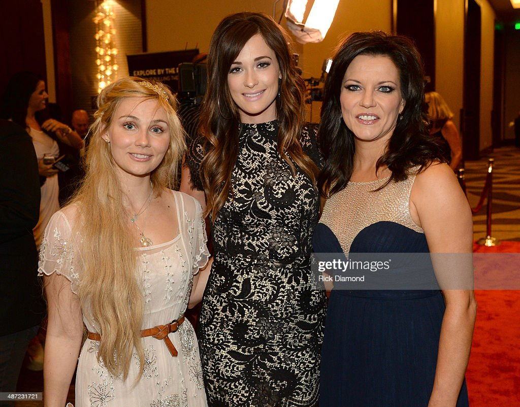 Clare Bowen of ABC's 'Nashville' Kacey Musgraves and Martina McBride attend the 15th Annual Nashville Best Cellars Dinner hosted by the TJ Martell...