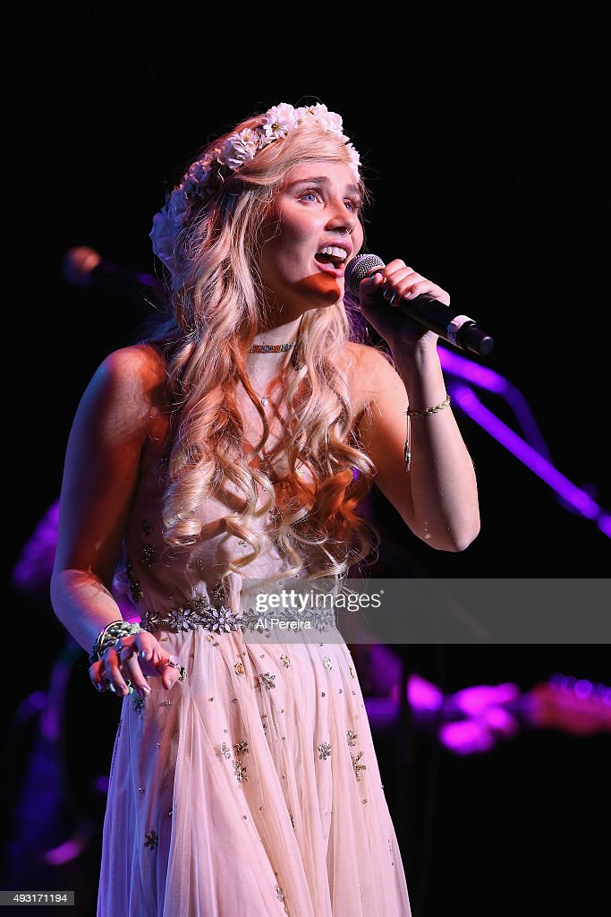 Clare Bowen performs at Mayo Performing Arts Center on October 17 2015 in Morristown New Jersey