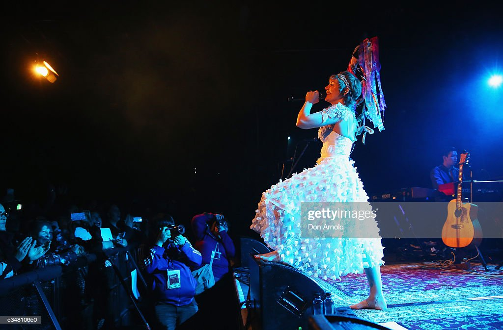 Clare Bowen performs at the Metro Theatre on May 28 2016 in Sydney Australia