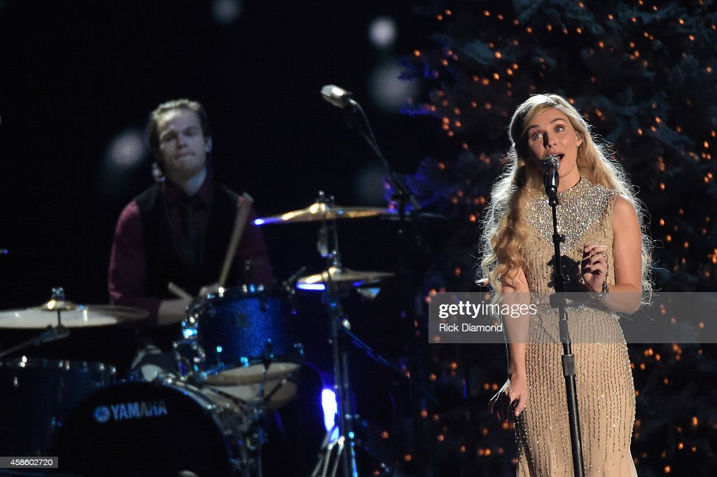 Clare Bowen performs during the CMA 2014 Country Christmas on November 7 2014 in Nashville Tennessee