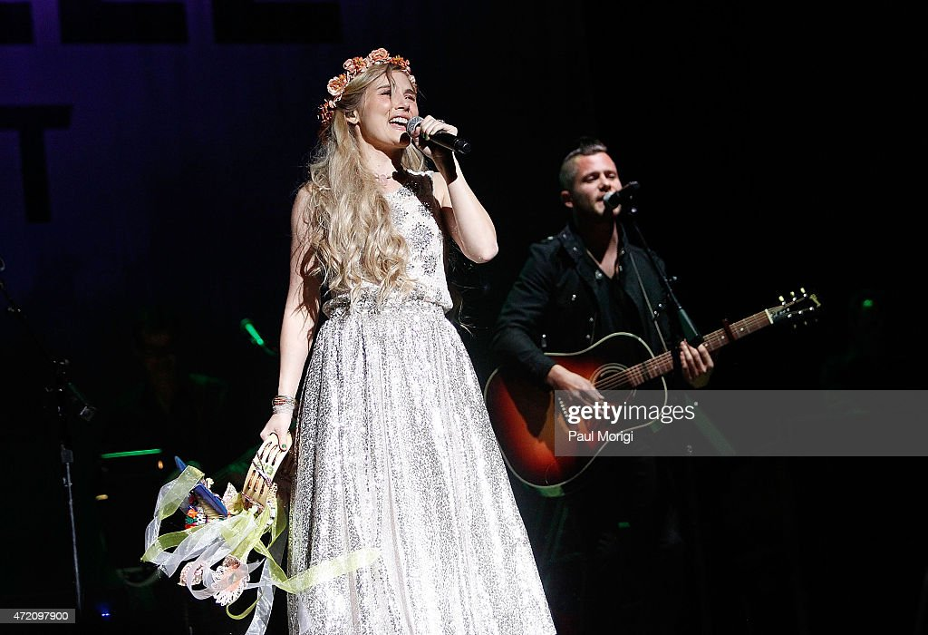 Clare Bowen performs on stage at the ABC 'Nashville' cast spring concert tour at DAR Constitution Hall on May 3 2015 in Washington DC