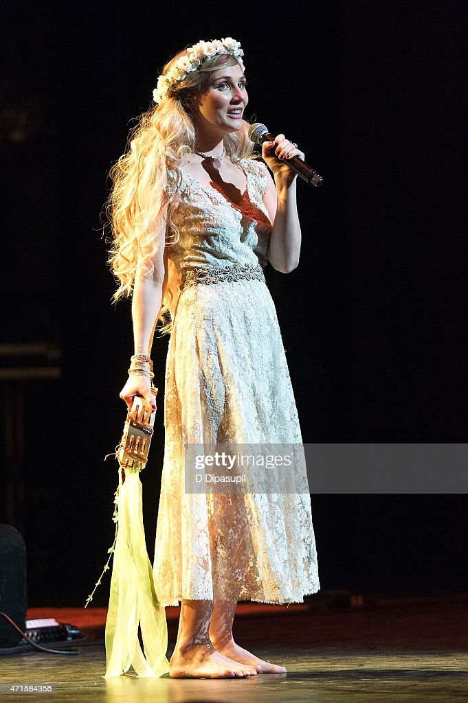 Clare Bowen performs onstage during the 'Nashville' Tour at The Beacon Theatre on April 29 2015 in New York City