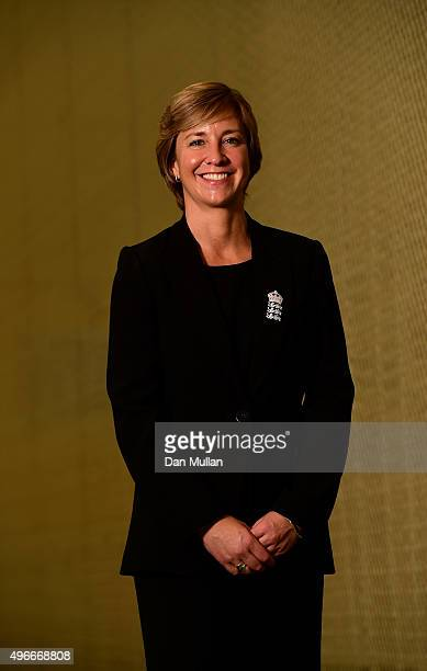 Clare Connor Director of England Women's Cricket poses for a portrait during the ECB announcement at Lord's Cricket Ground on November 11 2015 in...
