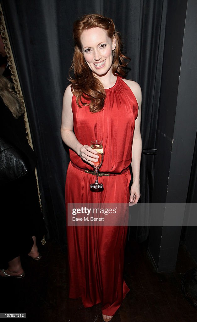 Clare Foster attends an after party celebrating the press night performance of the Menier Chocolate Factory's 'Merrily We Roll Along', following its transfer to the Harold Pinter Theatre, at Grace Restaurant on May 1, 2013 in London, England.