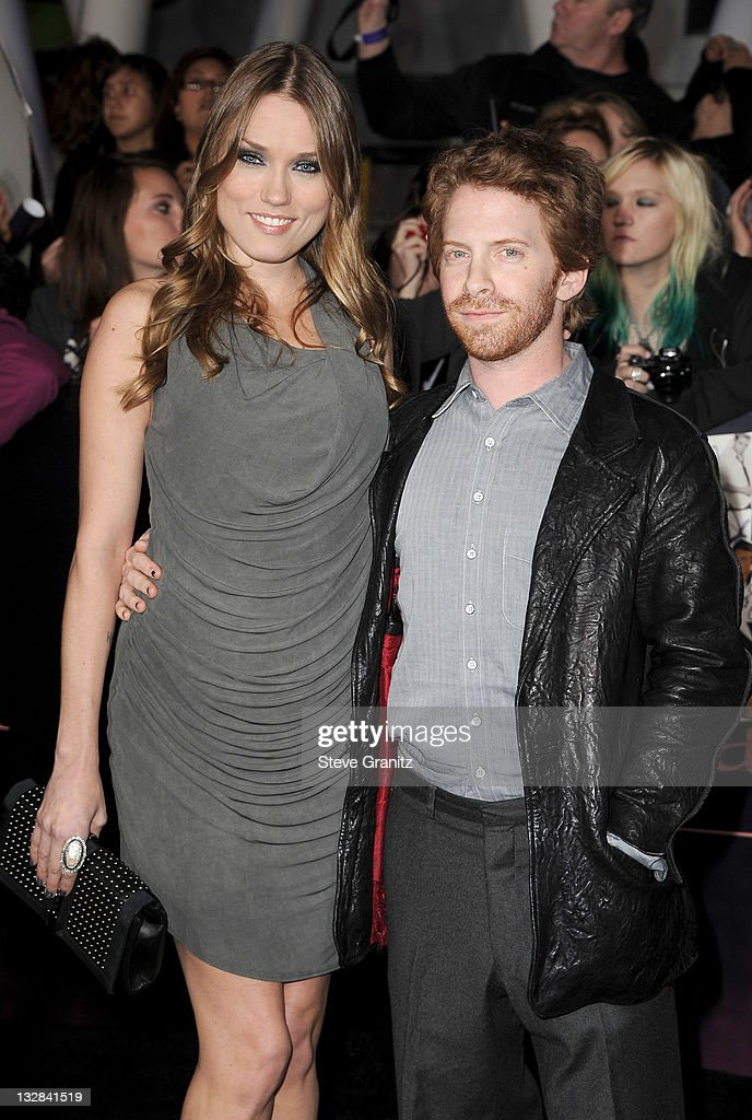 Clare Grant and Seth Green arrive at the Los Angeles premiere of 'The Twilight Saga Breaking Dawn Part 1' held at Nokia Theatre LA Live on November...