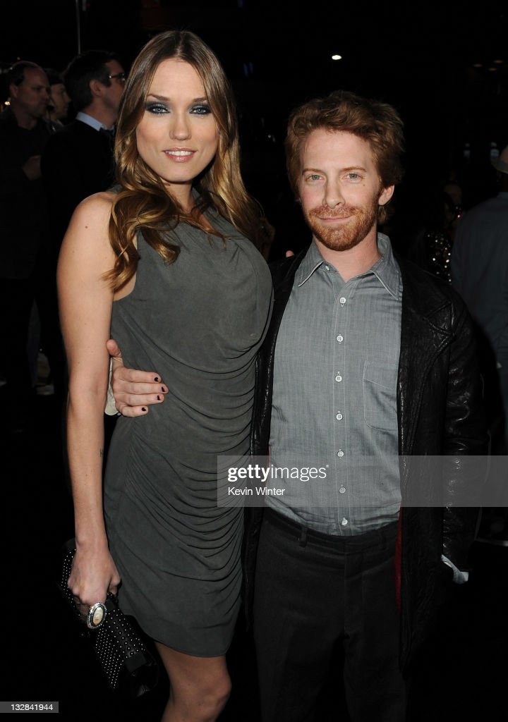 Clare Grant (L) and Seth Green arrive at the Los Angeles premiere of 'The Twilight Saga: Breaking Dawn Part 1' held at Nokia Theatre L.A. Live on November 14, 2011 in Los Angeles, California.
