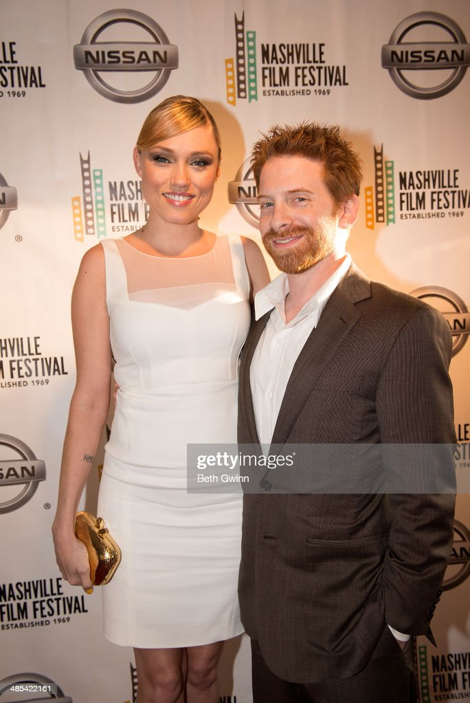 Clare Grant and Seth Green attend day 1 of the 2014 Nashville Film Festival at Regal Green Hills on April 17 2014 in Nashville Tennessee