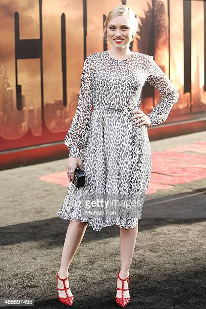 Clare Grant arrives at the Los Angeles premiere of 'Godzilla' held at Dolby Theatre on May 8 2014 in Hollywood California