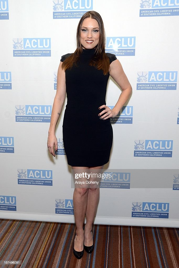 Clare Grant attends the ACLU of Southern California's 2012 Bill of Rights Dinner at the Beverly Wilshire Four Seasons Hotel on December 3, 2012 in Beverly Hills, California.