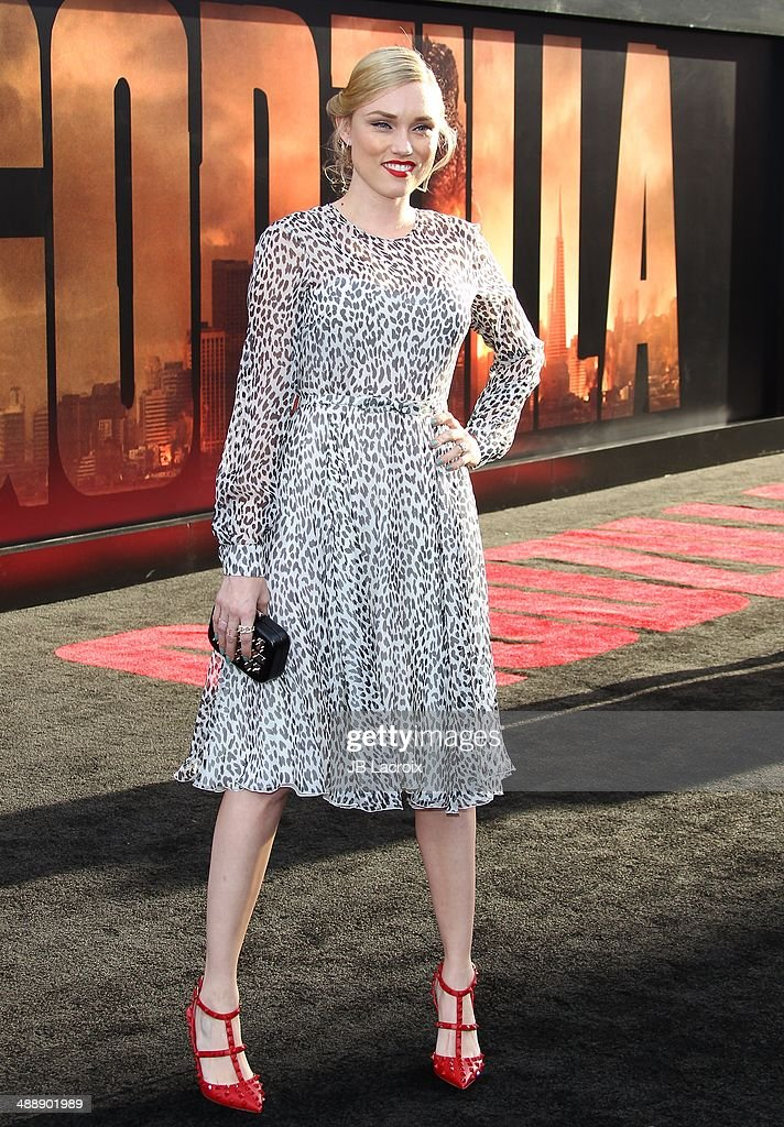 Clare Grant attends the 'Godzilla' Los Angeles premiere on May 8, 2014 in Hollywood, California.