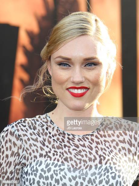 Clare Grant attends the 'Godzilla' Los Angeles premiere on May 8 2014 in Hollywood California
