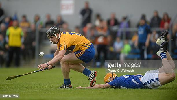 Clare Ireland 2 July 2016 Tony Kelly of Clare in action against Cahir Healy of Laois during the GAA Hurling AllIreland Senior Championship Round 1...
