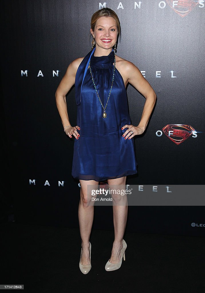 Clare Kramer attends the 'Man Of Steel' Australian Premiere at Event Cinemas, George Street on June 24, 2013 in Sydney, Australia.