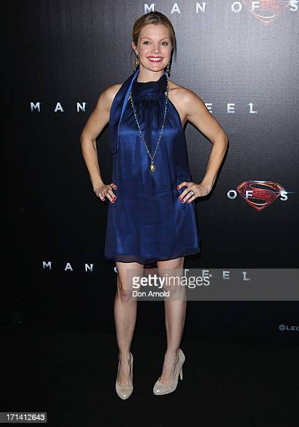 Clare Kramer attends the 'Man Of Steel' Australian Premiere at Event Cinemas George Street on June 24 2013 in Sydney Australia