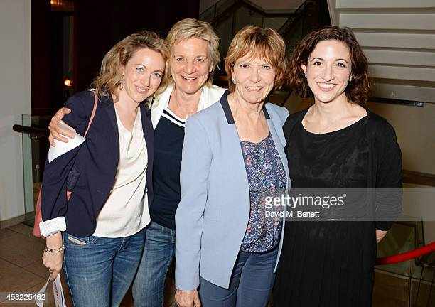 Clare Lawrence Olga Edridge Joan Bakewell and Laura Moody attend an after party following the press night performance of 'My Night With Reg' playing...