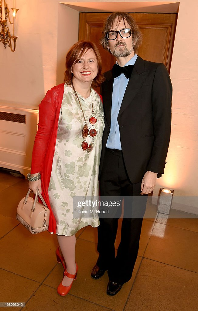 Clare Stewart and Jarvis Cocker attend the BFI London Film Festival Awards at Banqueting House on October 17, 2015 in London, England.