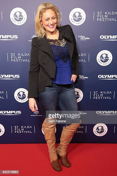Clare Verrall Married At First Sight attends Opening Night of the St Kilda Film Festival at the Palais Theatre on May 19 2016 in St Kilda Australia