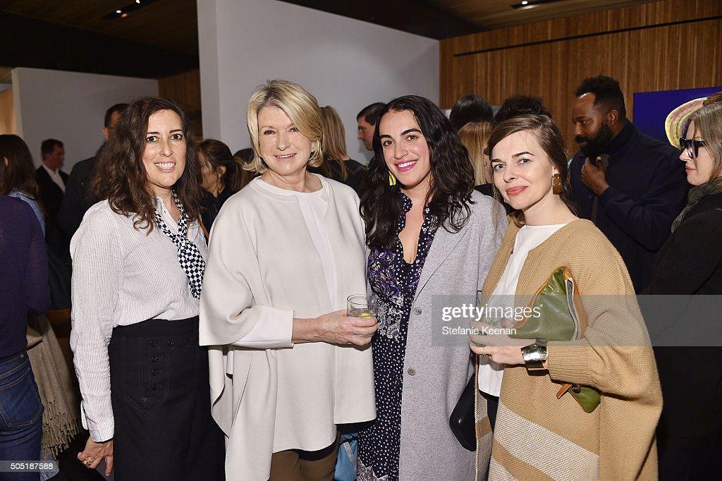 Clare Vivier, Martha Stewart, Heather Taylor and Simone LeBlanc attend Jenni Kayne and Martha Stewart celebrate Martha Stewart Living's 25th Anniversary Issue at Jenni Kayne Boutique on January 15, 2016 in West Hollywood, California.