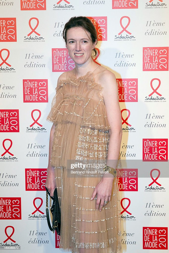 Clare Waight Keller poses as she arrives to attend the Sidaction Gala Dinner 2013 at Pavillon d'Armenonville on January 24, 2013 in Paris, France.