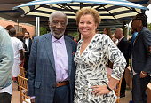 Clarence Avant and BET Chairman and CEO Debra L Lee attend Roc Nation and Three Six Zero PreGRAMMY Brunch 2015 at Private Residence on February 7...