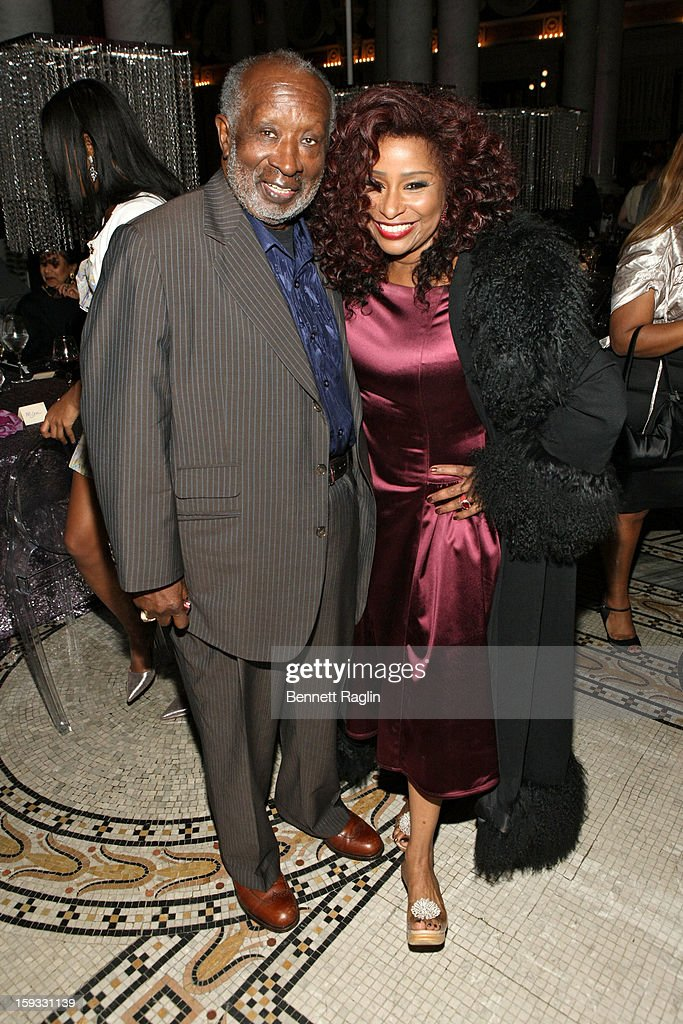 Clarence Avant and Chaka Khan attend BET Honors 2013: Debra Lee Pre-Dinner at The Library of Congress on January 11, 2013 in Washington, DC.