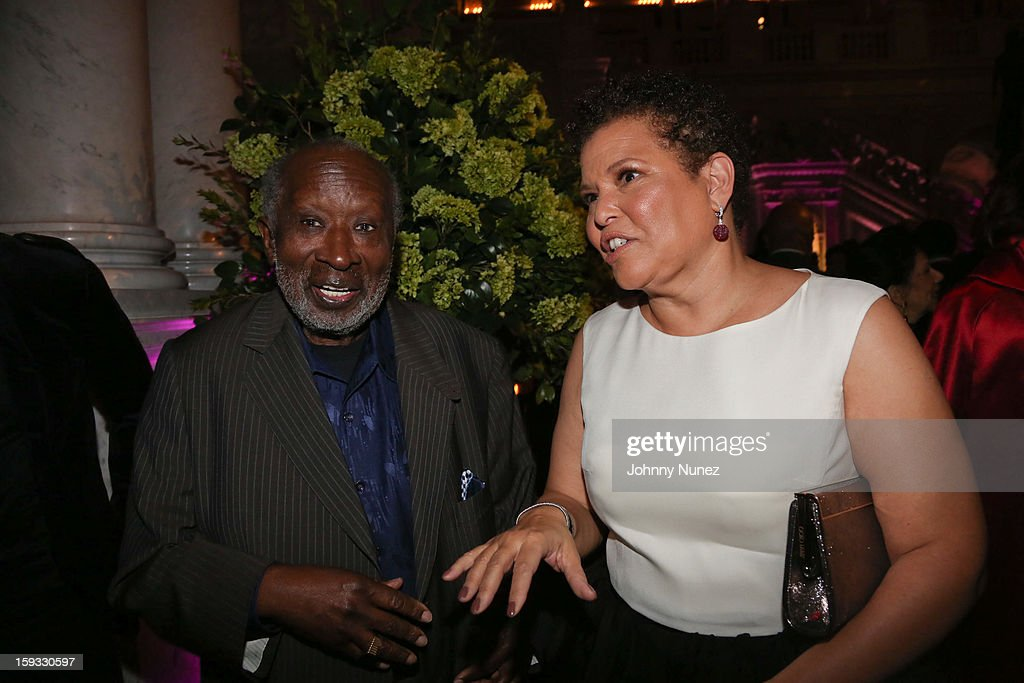 Clarence Avant and Debra L. Lee attend the 2013 Debra Lee Pre BET Honors Cocktails & Dinner at The Library of Congress on January 11, 2013 in Washington, DC.