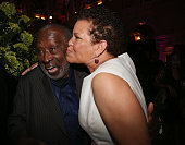 Clarence Avant and Debra L Lee attend the 2013 Debra Lee Pre BET Honors Cocktails Dinner at The Library of Congress on January 11 2013 in Washington...