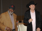Clarence Avant and John Rich during ASCAP 'I Create Music' EXPO Day 2 at Renaissance Hotel in Hollywood California United States