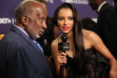 Clarence Avant and Kat Graham attend BET Honors 2013 at Warner Theatre on January 12 2013 in Washington DC