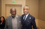 Clarence Avant and Rev Al Sharpton attend the Inaugural Black History Month Awards Luncheon sponsored by the National Action Network at The Beverly...