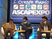 Clarence Avant Jimmy Jam and Terry Lewis during ASCAP 'I Create Music' EXPO Day 2 at Renaissance Hotel in Hollywood California United States