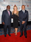Clarence Avant Sheryl Crow and Berry Gordy during Sheryl Crow Presents Former President Bill Clinton with The Humanitarian of the Year Award and...