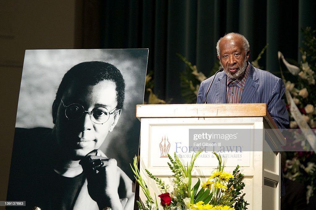Clarence Avant speaks at the Memorial Service for Don Cornelius on February 16, 2012 in Los Angeles, California.