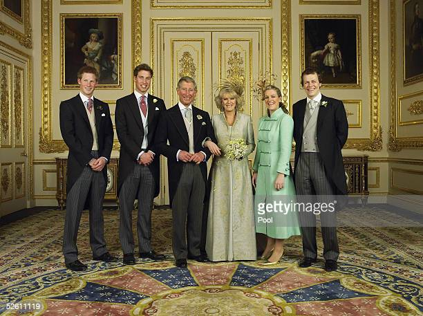 WINDSOR ENGLAND APRIL 9 Clarence House official handout photo of the Prince of Wales and his new bride Camilla Duchess of Cornwall with their...