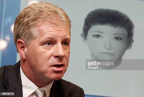 Clarence Mitchell the press spokesman for the McCann family addresses a press conference to release a photofit image of a woman sought in the search...