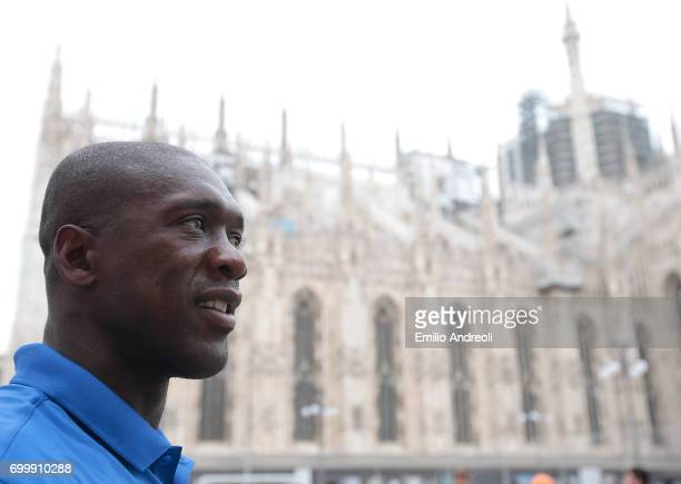 Clarence Seedorf attends a football clinic for integration organized by Italian Football Federation on June 22 2017 in Milan Italy