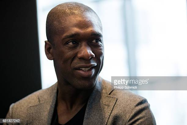 Clarence Seedorf attends a press conference prior to The Best FIFA Football Awards 2016 at the Kameha Grand Zurich hotel on January 9 2017 in Zurich...